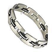 la moda envoltorio encanto brazalete pulsera pulsera 304 de los hombres de acero inoxidable