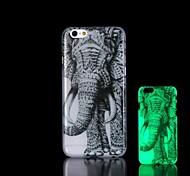 Elephants Pattern Glow in the Dark Hard Case for iPhone 6