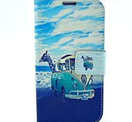 Animal Travel Pattern PU Leather Case with Wallet Card Slot for Samsung Galaxy S4 I9500
