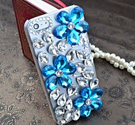 Blue Crystal of Love with Diamond Hard Back Cover for iPhone 5 /  iPhone 5S