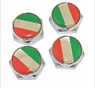 DIY Italian Flag Pattern Universal Metal License Plate Bolt Screw Caps for Car