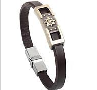 stile punk sole in pelle braccialetto lega simbolo (1 pc)