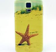 patrón de estrellas de mar playa TPU caso suave para el mini galaxia s5