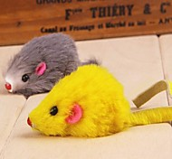 Lovely Mouse Shaped Plush Chew Toys for Pet Cats(Random Colour)