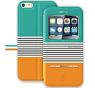 BASEUS™ Flip-open Display Windows PU&PC Full Body Case with Stand for iPhone 6 (Assorted Colors)