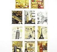 1x11PCS Water Transfer Printing Nail Stickers Decals Statue of Liberty for Nail Tips Nail Art Decorations(25*16*0.1CM)
