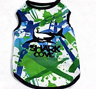 Cool Camouflage Pattern Printed Vest for Pets Dogs