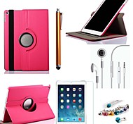 Cowboys Rotating PU Leather with Protective Film、Stylus、Headset、Dust Plug for iPad Air 2/iPad 6 (Assorted Colors)