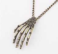 Korean Version Of The Retro Exaggerated Personality Sweater Chain Skeleton Hand Frame