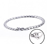 Fashion Personalized Gift  Handmade Stainless Steel Jewelry  Engraved Chain Link Bracelets