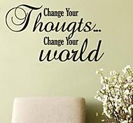 jiubai® mudar o seu pensamento parede adesivo de parede decalque, 72 centímetros * 42 centímetros