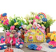 Kk Rabbit 24 Colors Magnetic Plasticine Children's Educational Toys(Pink)