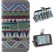 National Wind Patterns PU Leather Full Body Case with Stand and Card Slot for Samsung Galaxy Core I8262