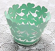 12pcs Hollow Out Leaves Cake Wrapper Cupcake Baking Wraps Wedding Baby Shower Birthday Party Decorations
