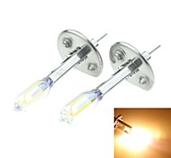 H1 P14.5S 100W Plated Yellow for Car Headlights Headlights Fog Lights 12V(1 Pair of Light Bulbs)