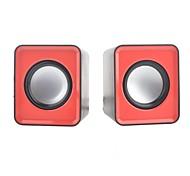 2 Stück hfier tragbare hallo-Fi Mini-Lautsprecher w / 3,5 mm Klinkenstecker (60cm- Kabel)