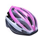 Unisex-Mode und hochatmungsaktiv pc + epp Fahrradhelm (24vents) - pink + Silber