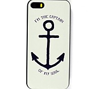 White Anchor Pattern Hard Case for iPhone 6