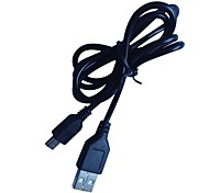 0.8M 3FT Mini USB2.0 Male to USB2.0 Male Cable Black