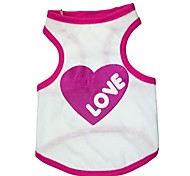 Lovely Big Red Heart Pattern Cotton Vest for Dogs (Assorted  Sizes)