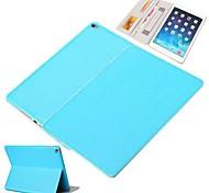 capa de couro protetora pu com suporte para o ar ipad 2 (cores sortidas)