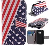 el diseño de la bandera americana de la PU cuero caso de cuerpo completo con soporte para Samsung Galaxy Ace Lite estilo