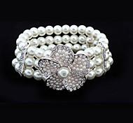European Fashion bracelet de style élastique fleurs sauvages perle