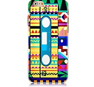 Magnetic Tape Pattern Hard Back Case for iPhone 6 Plus
