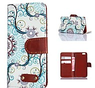 Blue Decorative Pattern PU Leather Case for iPhone 6