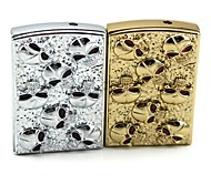 Personalized Engraving Small skull  Metal Electronic Lighter