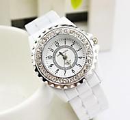 dom moda feminina relógios de quartzo das senhoras imitação de mesa de cerâmica pulseira relógio