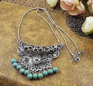 ethnische blauen rad Legierung Quaste Anhänger Halsketten