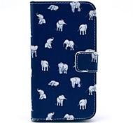 Elefanten Teppichmuster pu leahter volle Körperabdeckung mit Ständer und Card Slot für Samsung Galaxy Core 2 g355h / g3556d