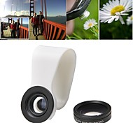 2-in-1 Full Screen Universal Clip 0.67X Wide Angel Lens and 10X Macro Lens for iPhone and Others