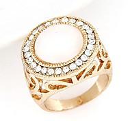 anillo de ópalo de diamante dulce del flash del temperamento de la moda