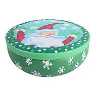 Joyful Santa Claus Round Tin Box Christmas Receive Cans