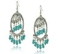 Beautiful Siliver Star Vintage Turquoise Earrings