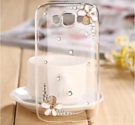 Crystal Luxury Swarovski Flowers Diamonds Back Cover Cases for SAMSUNG Galaxy Grand I9080/I9082