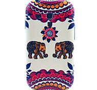 Kiss The Baby Elephant Pattern TPU Soft Case for Samsung Galaxy S3 Mini I8190