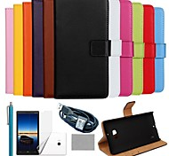 COCO FUN® Luxury Solid Color Genuine Leather Case with Film, Cable and Stylus for Nokia Lumia 930(Assorted Colors)