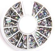 Mischgrößen deutlich oval Nail Art Acrylglas Strass Glitzer gefälschten Diamanten für Nageldesign
