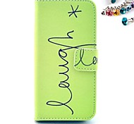 Smile Pattern PU Leather Full Body Case with Card Slot and Stand for iPhone 4/4S
