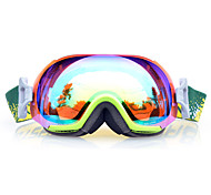 BASTO Snow Googgles Green Frame Light Blue  Sensor Mirror Lens