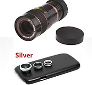 8X Telephoto Lens / Fisheye Lens/ Wide Angle & Macro Lens Kit with Back Case for Samsung Galaxy S3 I9300(Assorted Color)