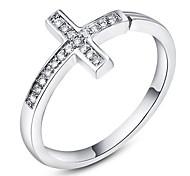 Roxi®Fashion Blink Cross Silver Copper Band Rings(1 Pc)