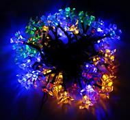 The Solar Energy Light Peach Festival Decoration String Courtyard Garden 50 LED 7M