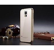 Luphie No Screw Acylic Back Cover with Aluminum Metal Frame for Samsung Galaxy S5 I9600 (Assorted Colors)