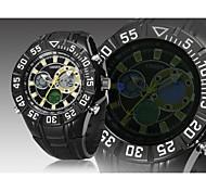 banda de silicone preta mostrador do relógio redondo japão moda movimento mergulho relógio do esporte relógio de pulso dos homens (cores sortidas)