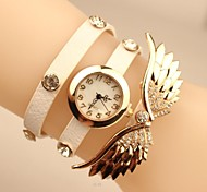 "Women's 2015 The Latest ""Angel Wings"" Fashion Leather Japanese Quartz Watch(Assorted Colors)"