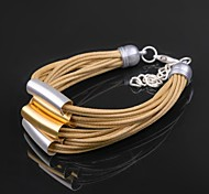 Creative Gold-plated Ladies Leather Bracelet Love Gift